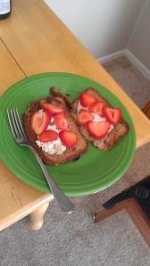 Strawberry hearts - cheesy but romantic.