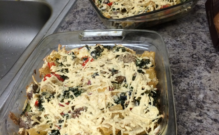 Vegan Sausage and Kale Ricotta Pasta Bake | Recipes and Tales from a ...